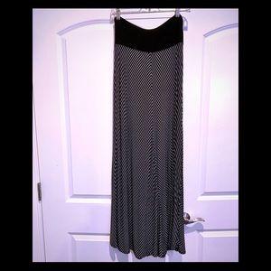 Black & White Maxi Skirt by Gap